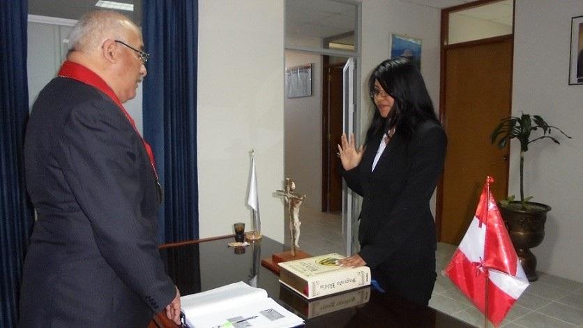 Juramenta nueva fiscal adjunta provincial provisional.