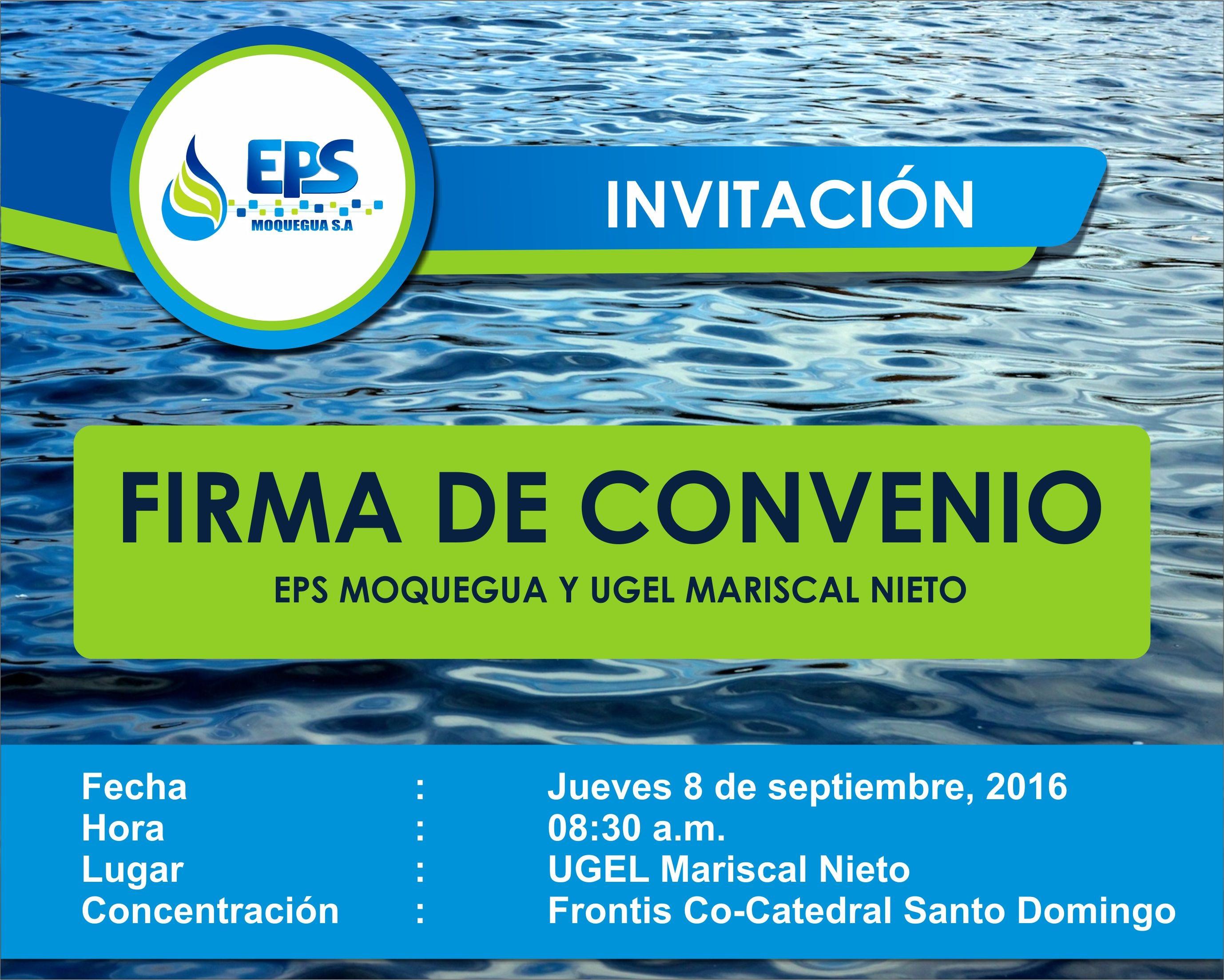 EPS Moquegua y UGEL firmaràn convenio.