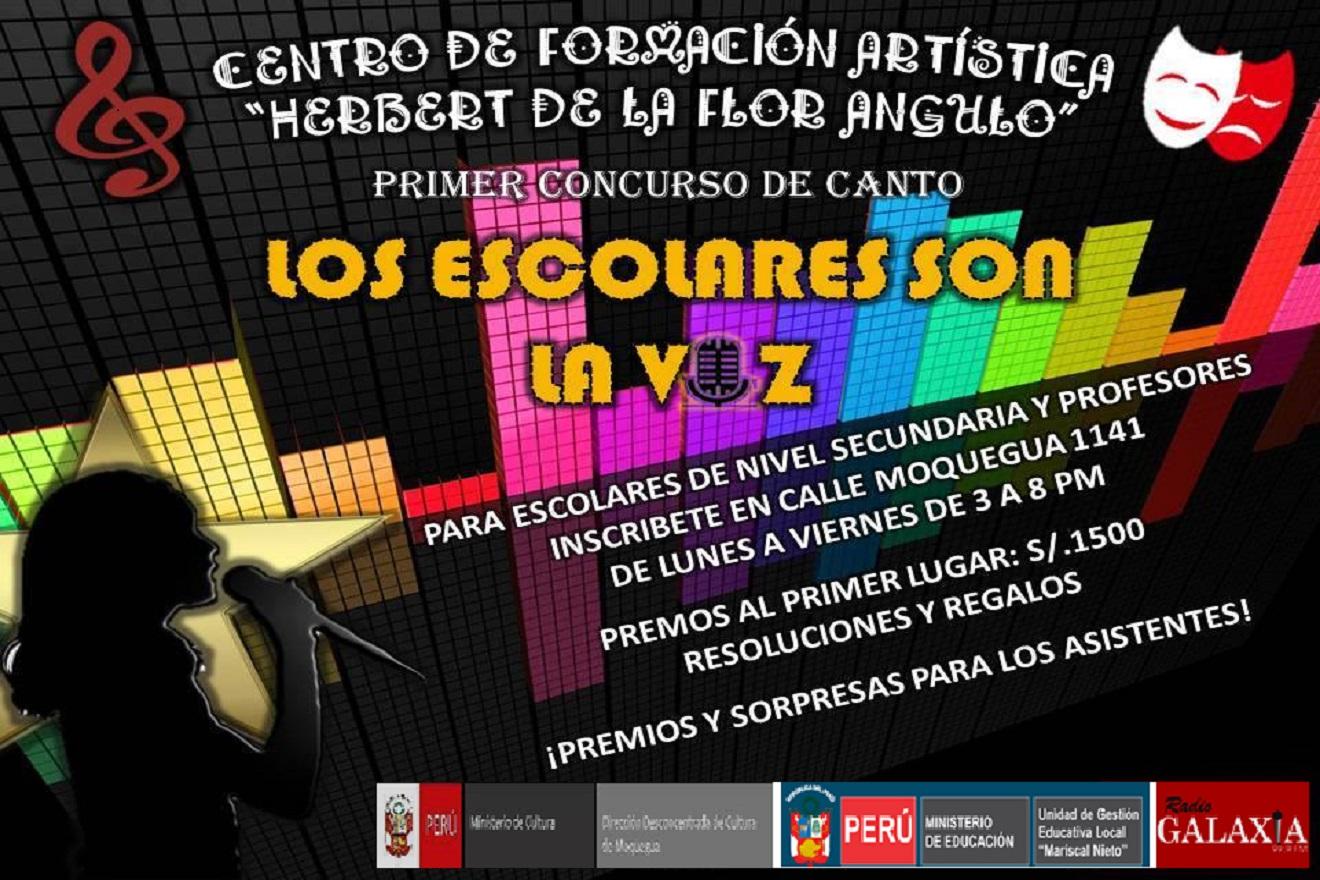 """MUY PRONTO: Concurso de Canto """"Los Escolares son la Voz"""""""