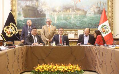 Consejo directivo del congreso aprueba actualización de proyectos de distritalización de San Antonio y otros