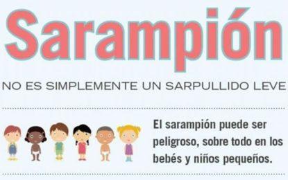NIÑOS MENORES DE 05 AÑOS DEBEN SE VACUNADOS CONTRA EL SARAMPIÓN.