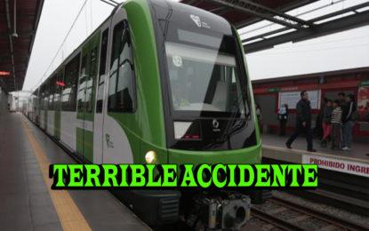 Venezolano casi muere al lanzarse a la vía del tren eléctrico