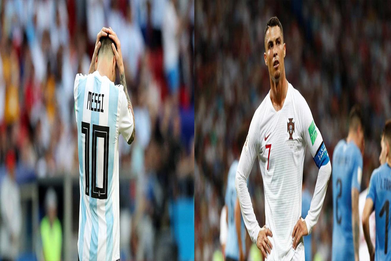 Los dos mejores futbolistas del planeta Messi y Ronaldo fueron eliminados de Rusia 2018