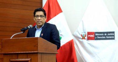 MINJUSDH realizó ceremonia de presentación del ministro moqueguano Vicente Zeballos