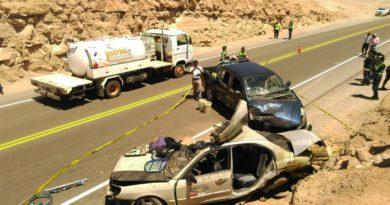 Accidente de transito tiñe de sangre la Carretera Panamericana Sur en Moquegua