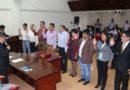 Juramentó grupo de trabajo de gestión de riesgo de desastre de municipio local.