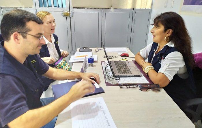 Observadores de la unión europea visitan sede de la ODPE Mariscal Nieto.