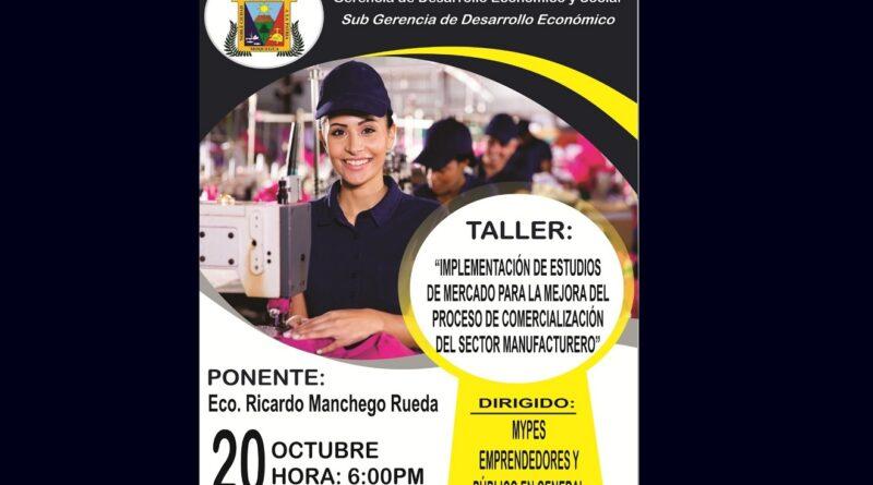 Municipalidad capacitará a empresarios sobre implementación de estudios de mercado para mejorar la comercialización.