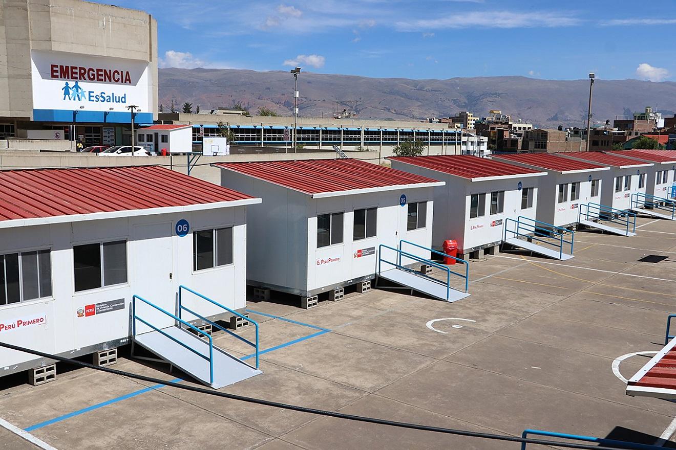 MVCS ha instalado 434 módulos temporales en hospitales y penales del país para lucha contra Covid-19