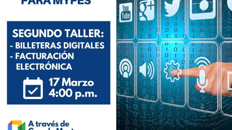 """Municipalidad y programa """"Tu Empresa"""" dictarán taller sobre billeteras digitales y facturación electrónica"""