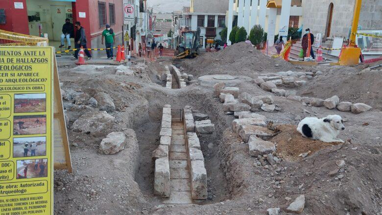Descubrieron canales de agua y desagüe que datarian de los siglos XVII ó XVIII en Moquegua